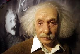 Albert Einstein wax figure