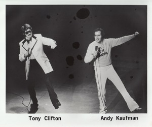 Michael Kaufman as Tony Clifton with Andy